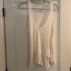 Urban Outfitters White Ruffle Tank Top